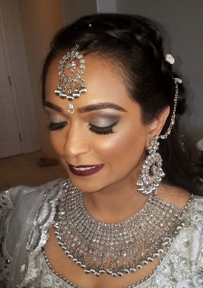 bridal hair and makeup for a bhavii brides