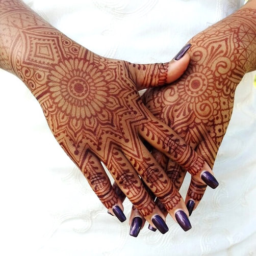 bridal henna in south Florida Indian wedding